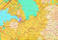 Топографическая карта Ленинградской области