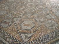 Мозаика на полу (знаки зодиака).
