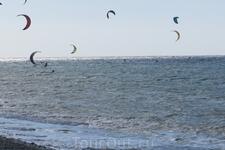 вот кому нравится ветер на Эгейском море