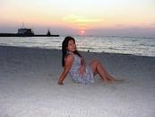 Удивительно красивый закат на Таганрогском заливе.