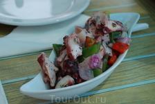 Кухня Тенерифе. Салат с осьминогами.
