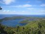 Вид на Veliko Jezero и остров Sv.Marija с пика Montokuc