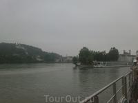 Место слияния реки Инн с Дунаем