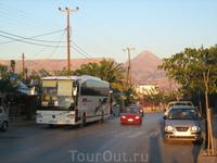 Амудара утренняя. Вид на запад. Наш автобус.