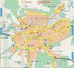Карта Луганска на русском