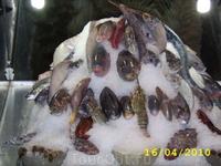 витрина местного рыбного ресторана
