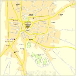 Карта Паралимни с достопримечательностями