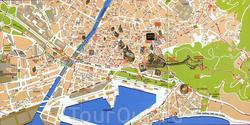 Карта Малаги с достопримечательностями