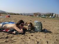 Муниципальный пляж рядом с отелем. О критских бездомных собаках напишу и выложу фото позже.
