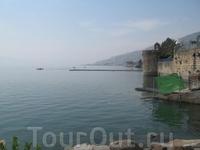 Живописное озеро Кинерет.