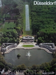 Бенрат(BENRATH),вид в высоты птичьего полета.Розовый  Замок и озера.Расположен в нескольких км от Дюссельдорфа.