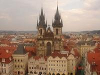 Вид Праги с обзорной башни