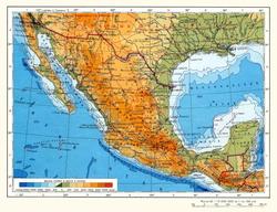 Карта Мексики на русском