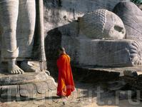 Сравните размер фигуры с монахом - Каменная святыня (12 Век н.э)