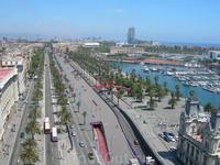 Порт Барселоны. Вид со смотровой площадки статуи Колумба