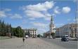 площадь Республики (ранее - Ленина). слева здание городской администрации, справа главный корпус сельхоз академии.