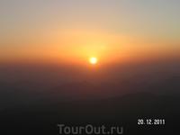 Гора Моисея (Синай); фазы восхода