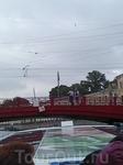 Виды с кораблика. Красный мост (снимок с телефона)