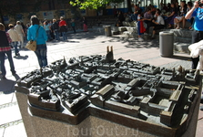 макет центра города