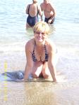 купание перед прогулкой в Новый свет(после понизовки вода +13... в воде только жена и сибиряки).