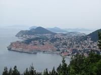 Хорватия, вид на Дубровник со смотровой площадки