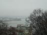 Вид на Киев с верхней точки фуникулера.