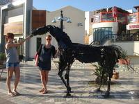 кормим железного коня :)