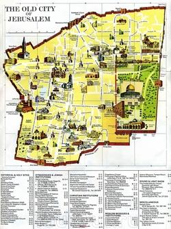 Туристическая карта Старого города с достопримечательностями