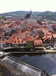 Чешский Крумлов, вид из замка