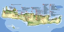 Карта номов Крита