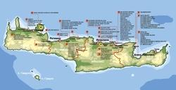 Karta Krita S Dostoprimechatelnostyami Oteli Mesta Foto Na Karte