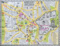 Карта Старого Города в Иерусалиме