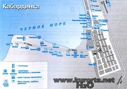 Карта Кабардинки с улицами