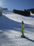 Один из горнолыжных спусков курорта Банско