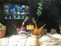 Образцы сангрии в одном из кафе в крепости