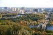 Вид на левобережный Киев и метромост.