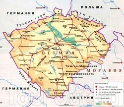 Карта Богемии