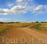 старая дорога Баланда-Саратов