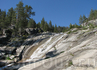 Каскад водопадов на одном из боковых ручьев.