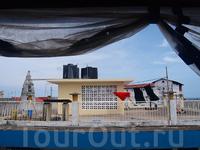 первое впечатление от Стоунтауна, вид с крыши отеля