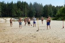 Волейбол.. пляжный футбол..отдохнули так отдохнули..