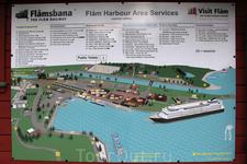 Карта-схема города Флом