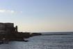 Кейсария. Древний порт на закате.