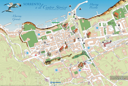Карта Сорренто для туристов
