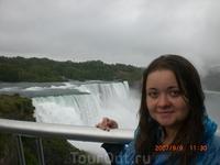 Вид на водопад сверху