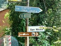 Здесь начинается спуск на Punta Chiappa