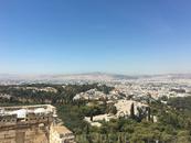 вид на город с Акрополя