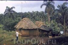 Сельский домик из природных материалов