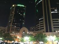 А вот как выглядят Дубайские близнецы ночью
