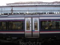 Это поезд, на котором мы приехали из Эдинбурга в Стерлинг.